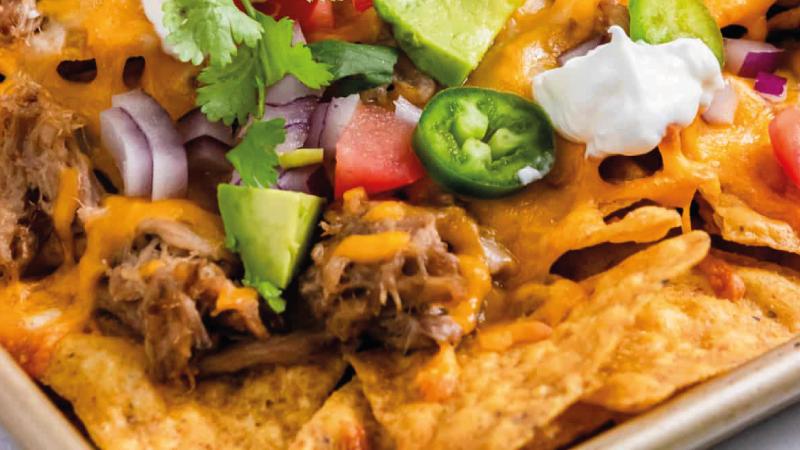 Au bœuf effiloché nachos